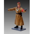 BER004A Directing traffic brown coat