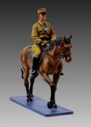 BER008 SA Officer on brown horse