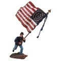 BR312486 Federal 20th Maine Flagbearer, National Color