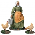 BR31280 Farm lady with chickens