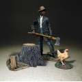 BR31319 Laborer with Axe and Chicken
