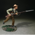 BR31336 Confederate Soldier Attacking with Bayonet Leveled