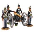 BR36127 British Royal Artillery 9 Pound Gun and 4 Man Crew