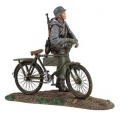 BR25037 German Volkgrenadier Wearing Parka Pushing Bicycle #1