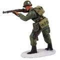 BR25044 US 101st Airborne Infantry M-43 Jacket Standing firing