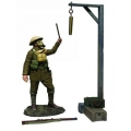 "BR23115 Pre Order Gas Alarm"" British Soldier with Gas Mask Sounding Alarm"