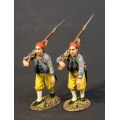 CSHZ-06 Two Infantry Advancing, South Carolina Zouave Volunteers