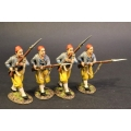 CSHZ-07N Four Infantry Advancing, South Carolina Zouave Volunteers