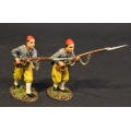 CSHZ-08 Two Infantry Advancing, South Carolina Zouave Volunteers