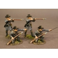 CSPR-05N Four Infantry Skirmishing, 4th South Carolina Infantry, Co B Palmetto Riflemen