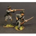 CSPR-09 Two Infantry Skirmishing, 4th South Carolina Infantry, Co B Palmetto Riflemen