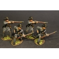 CSPR-09N Four Infantry Skirmishing, 4th South Carolina Infantry, Co B Palmetto Riflemen