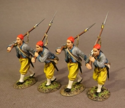 CSHZ-05N Four infantry Advancing, South Carolina Zouave Volunteers