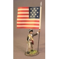 SCAN-02B Flag Infantry Officer with National Colors, 1st Canadian Regiment, Continental Army