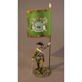 SNY-02A Infantry Officer with Regimental Colors, 2nd New York Regiment