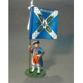 EEC-02 Royal Ecossois, Officer with Regimental Colours