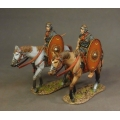 ROMCAV01 Two Roman Auxiliary Cavalry  Red Shield #1