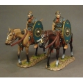 ROMCAV04 Two Roman Auxiliary Cavalry Green Shield #2