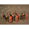TMRRBS-01R Eight Triarii Standing, Roman Army of the Mid Republic