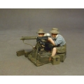 WAD23D Crew with Vickers Heavy Machine Gun Australian 1st Light Car Patrol Model