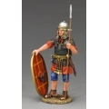 LOJ034 Standing Roman Auxilliary with shield and spear