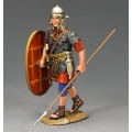 LOJ035 Walking Roman Auxilliary with shield and spear
