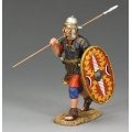 LOJ036 Marching Roman Auxilliary with shield and spear