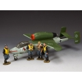 SGS-LW003 A Gathering of Eagles - Heinkel 162 Salamander and pilots - Value Set