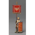 XE012D Persian Immortal Standard Bearer with Cloth Banner