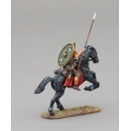 ROM093B Auxiliary Cavalry Legionnaire on Rearing Horse with Green Ala ll Flavia Legion Shield
