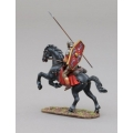 ROM093A Auxiliary Cavalry Legionnaire on Rearing Horse with Scorpion Shield