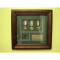 011 WWI Frame Medals but no photo