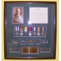 005 Boer & WW1 Frame 7 medal MC Set